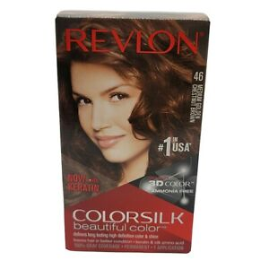 Revlon Colorsilk Keratin Ammonia Free Hair Color 46 Medium Golden Chestnut Brown