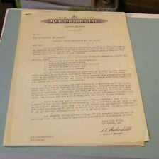 1940 REO Motor Car Company Dealer Letter Parts Information for 1941 Models 6pg