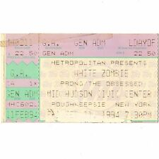 WHITE ZOMBIE & PRONG & THE OBSESSED Concert Ticket Stub 2/11/94 POUGHKEEPSIE NY