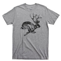 Jackalope T Shirt Big Foot Nessie Loch Ness Monster UFO Alien Hiking Camping Tee