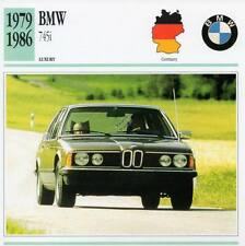 1979-1986 BMW 745i Classic Car Photograph / Information Maxi Card