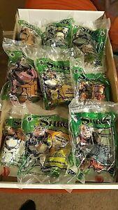 Burger King 2001 9 Shrek toys 1,2,3,4,5,6,7,9,10 # 8 recalled. SEALED!