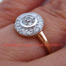 Real Genuine Natural Diamonds Solid 9ct Yellow Gold Engagement Wedding Ring Band