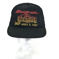 Vintage 1987 Snap-On Tools BGP Racing Men's Snapback Dad Baseball Hat Cap Mesh
