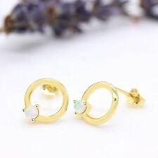Circle Opal Earrings