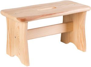 Wooden Step Stool FSC Certified Fir Wood Rustic Vintage Step Stool Adults Kids