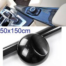 5D Black Premium High Gloss Carbon Fiber Vinyl Wrap Air Release Bubble Free UK