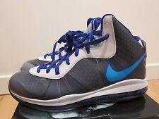 2010 Nike Air Lebron 8 V/2 VIII Summit Lake Hornets Blue Grey size 13