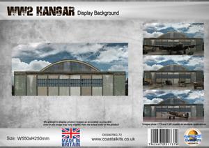 "Coastal Kits 'WW2 Hangar Background with attachment clips"""