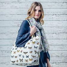 Maxi Large Oversize Canvas Butterfly Farfalla Print Shopper Tote Beach Bag