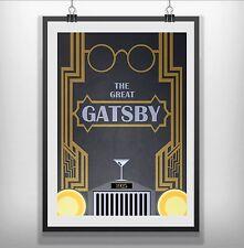 the great gatsby Minimalist Minimal Film Movie Poster Print