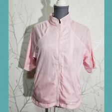 Sunice Weather Baby Pink Full Zip Short Sleeve Waterproof Jacket | Women's S