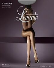 Levante Brillante Lustrous Shine Gloss Sheer to Waist Tights 20 Denier Black X Tall