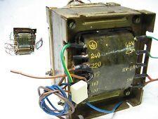 Trasformatore Lamellare  prim: 0 - 110 - 220 - 240V sec: 0 - 46V - 11V - 9V +
