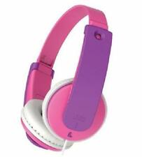 JVC Tiny Phones Travel Headphones for Kids 3+ Pink 85dB Safe Sound Customizable