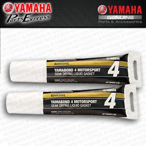 NEW (2) PACK YAMAHA YAMALUBE YAMABOND 4 SILICONE BASED LIQUID GASKET SEAL