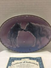 Wolf Collector Plate Tender Advances Lee Cable Nature'S Tenderness # 52 Wolves