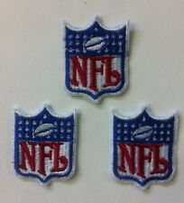"""NFL Lot Of 3 Shield /crest 1.25""""x 1.5"""" Inch Sew On Patch"""