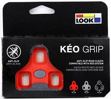 Genuine LOOK KEO GRIP Road Pedal Cleats 9° fits Classic Blade Carbon Max - RED