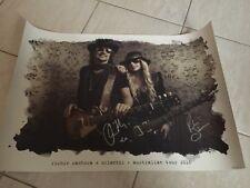 Richie Sambora & Orianthi Australian Tour 2016 Signed & Numbered Poster