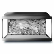Fish Tank Background 90x45cm BW - Marble Stone Ink Art  #36801