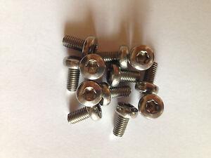 Bike Disc brake rotor bolts Stainless Torx head M5*10mm 6,12,24 & 36 pack