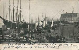 Galveston,TX Mosquito Fleet Texas Antique Postcard Vintage Post Card
