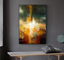 VV726 Modern Hand drawn abstract oil painting on canvas Home Decoration 48''