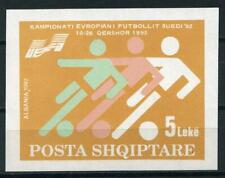 Albanië Blok 95 Europees kampioenschap voetbal 1992 cat waarde € 3,50