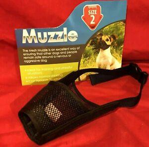 Dog Muzzle Size 2 Black Padded Nylon 15 cm Border Collie Beagle Springer Spaniel