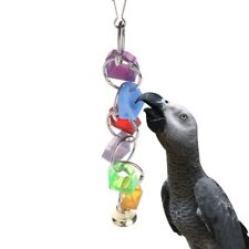 Parrot Bell Toys Birds Hanging Cage Bite Accessories Parakeet Six Rings Ladder