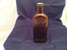 Vintage Rawleigh's Trademark Amber Bottle With Screw ON Cap Marked Medicine