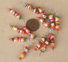 1:12 Scale 1 Kebab On A Metal Skewer Dolls House Kitchen Food BBQ Accessory