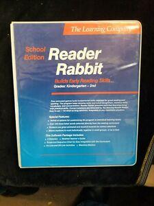 1986 Learning Company Reader Rabbit Teacher's Guide For Apple Discs & Binder