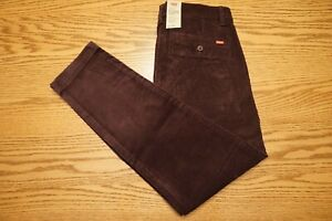 NWT MENS LEVI CORDUROY PANTS Multiple Sizes XX Chino Standard Taper Bayberry