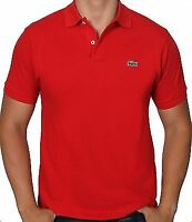 Lacoste Men's Short Sleeve Classic Cotton Pique Polo Shirt L1212-51 240 Red