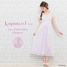 Secret Honey Lace Embroidery Maxi Dress One Piece Rapunzel Disney