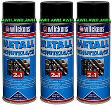 3x400ml Lackspray Metall Schutzlack 2in1 Rostschutz & Lack Farbe Schwarz RAL9005