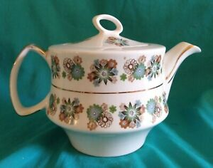 Gibson Staffordshire Teapot About 8 Inches Tall