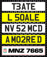 Show Custom Number Plate Not Road Or MOT Compliant Logo Digit Editable Classic