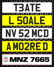 Show Custom Personalised Number Plate Not MOT Compliant Digit Spacing 3D Clubs