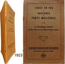Catalogue Compagnie Naionale des Radiateurs 1923 chauffage plomberie Paris Dôle