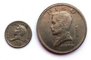 Philippines Coin Lot 1967 10 Sentimos Baltasar 1972 1 Piso Jose Rizal Pilipinas