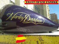 2x Adhesivos Vinilos Decal Calcomanía Sticker Bike Moto Harley Davidson Depósito