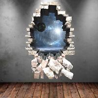 3D A PIENI COLORI SPAZIO STELLE PIANETI ADESIVO ARTISTICO DA PARETE RAGAZZI