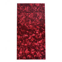 Red Pearl Celluloid Guitar Head Veneer Shell 1.5mm Thick