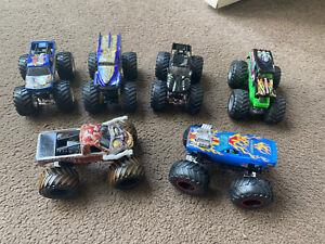 6 x Hot Wheels Monster Jam Monster Truck Bundle Zombie King Krunch WW Grave Dig