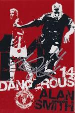 Manchester United Firmato a Mano Alan Smith foto 6x4 1.