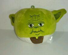 "Hallmark Disney Star Wars Yoda Fluffballs Plush Ball Ornament 4"" Fluffball"