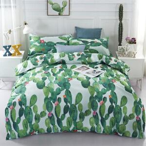 Cactus Duvet Doona Quilt Cover Set Tropical Bedding Set Single Double Queen King